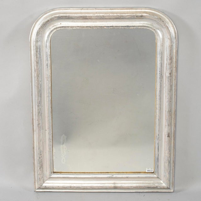 Late 19th Century 19th Century Louis Philippe Silver Gilt Mirror For Sale - Image 5 of 12