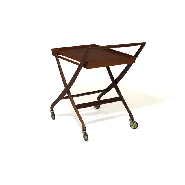 Danish Teak Folding Bar Cart For Sale In San Francisco - Image 6 of 8