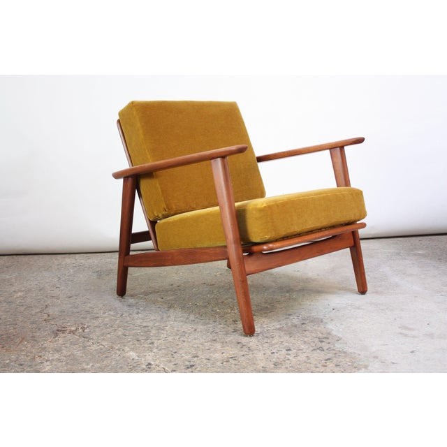 Danish Modern Reclining Lounge Chair in Ochre Mohair For Sale - Image 13 of 13