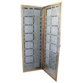 Art Deco Style Molded Plexiglass Folding Screen For Sale