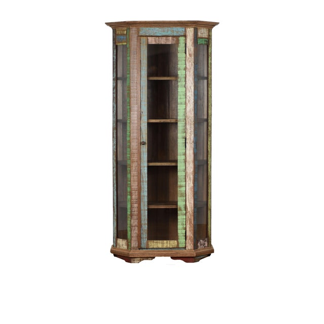 Adirondack Reclaimed Wood Curio Cabinet For Sale - Image 3 of 3