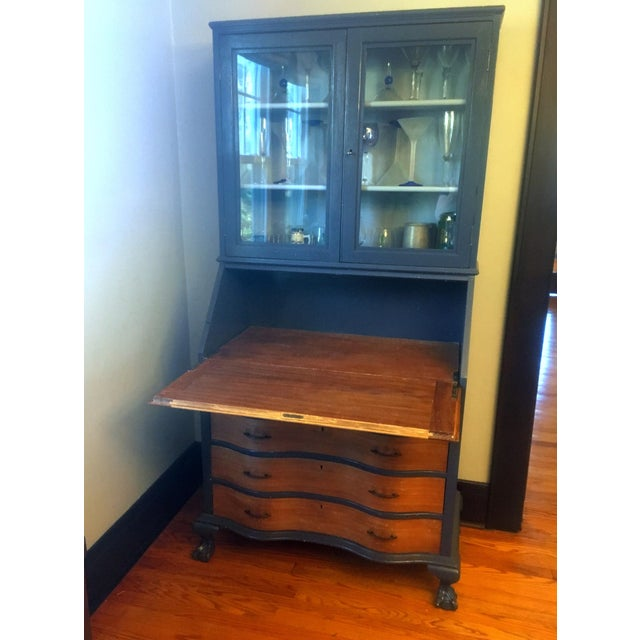Early 19th Century 19th Century Chippendale Slant Front Mahogany Maddox Secretary Desk For Sale - Image 5 of 11