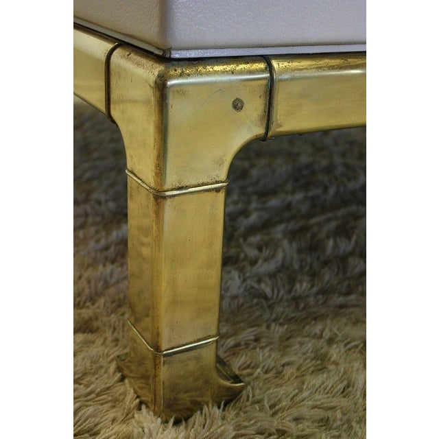 Mastercraft Brass and Lacquered Coffee Table - Image 7 of 8