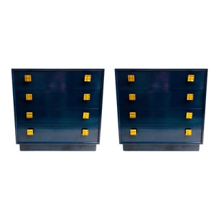 Pair of Mid-Century Modern Lacquered Chests