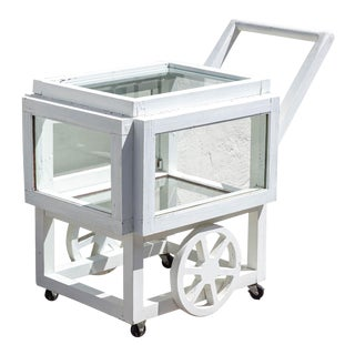 Vintage Terrarium Bar Cart For Sale