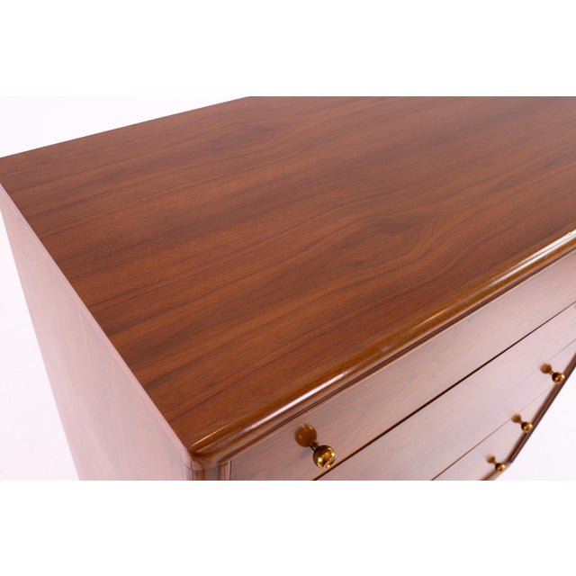 """Brown Kent Coffey """"The Continental"""" Mid Century Walnut Highboy Dresser For Sale - Image 8 of 12"""