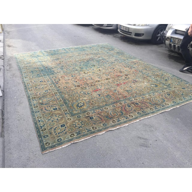 Persian Handwoven Antique Vintage Persian Traditional Rug