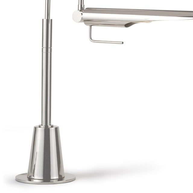 Traditional Raven Task Lamp in Polished Nickel For Sale - Image 3 of 5
