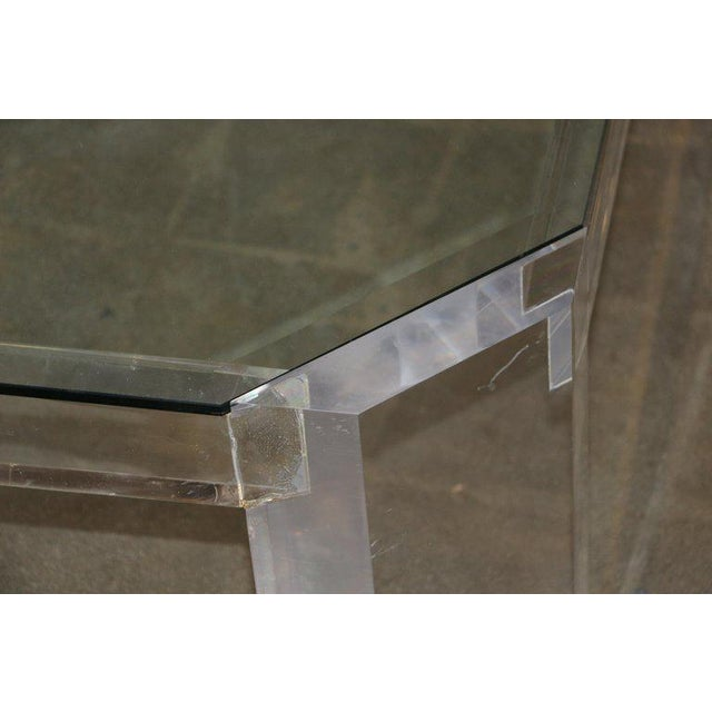 Charles Hollis Jones Model 505 Lucite and Glass Coffee Table For Sale In Palm Springs - Image 6 of 7