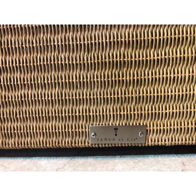 Janus Et Cie Wicker Tables - a Pair For Sale In West Palm - Image 6 of 7