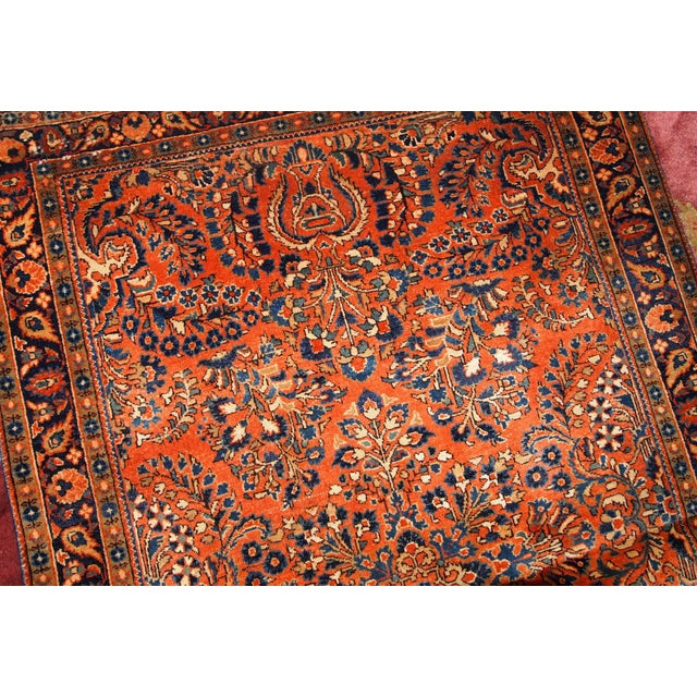 1920s, Handmade Antique Persian Sarouk Rug For Sale - Image 9 of 13