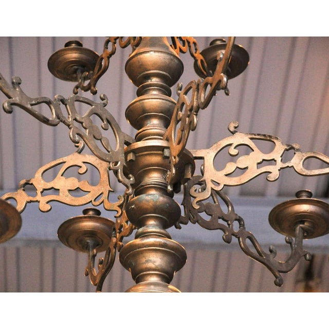 Spanish Bronze Chandelier - Image 3 of 7