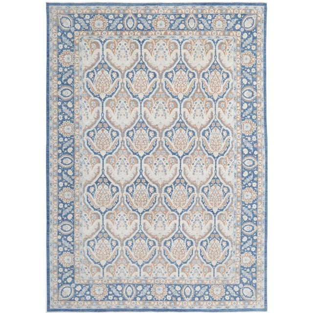 Traditional Pasargad 21st Century Tabriz Haj Jalili Hand-Knotted Rug - 9′9″ × 13′10″ For Sale - Image 9 of 9