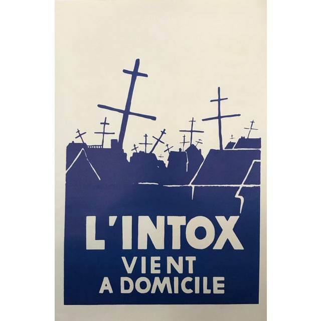 1968 Original French Riot Poster - l'Intox Vient a Domicile For Sale - Image 4 of 5