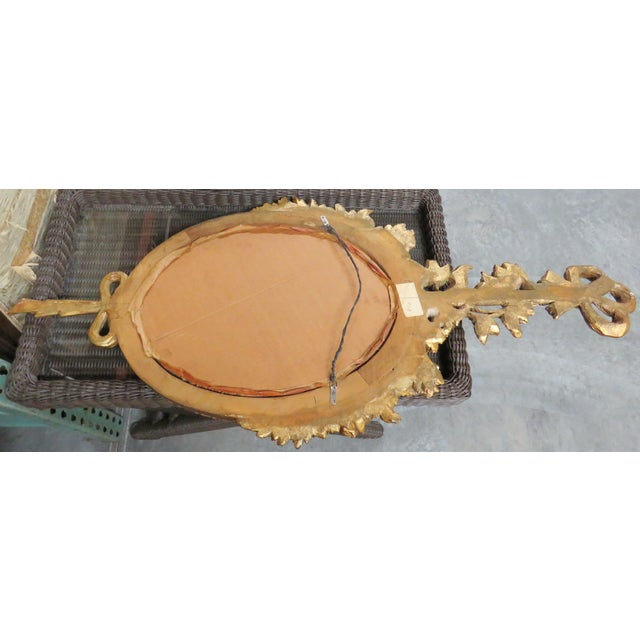 French Style Oval Gilt Mirror - Image 6 of 6