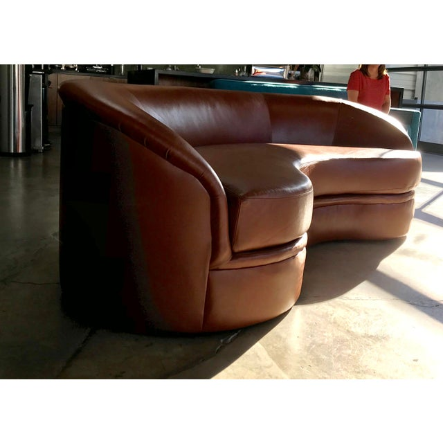 Vladimir Kagan Biomorphic Kidney Bean Shaped Sofa For Sale - Image 9 of 9