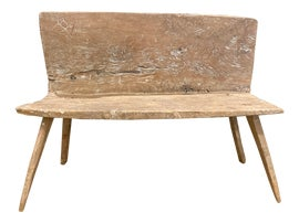 Image of Newly Made Benches with Backs