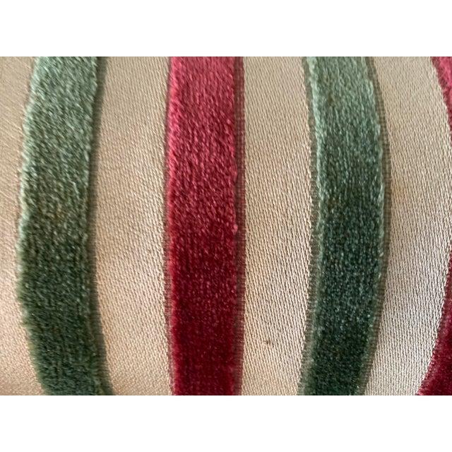 Leather Vintage Striped Fomerz Italy Leather, Satin, Velvet, Felt Domed Box For Sale - Image 7 of 12