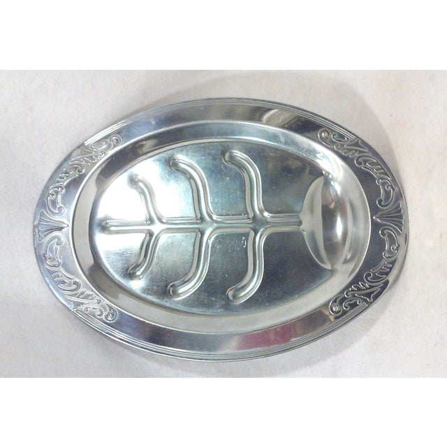 Art Deco Oval Chrome Meat Platter - Image 4 of 6