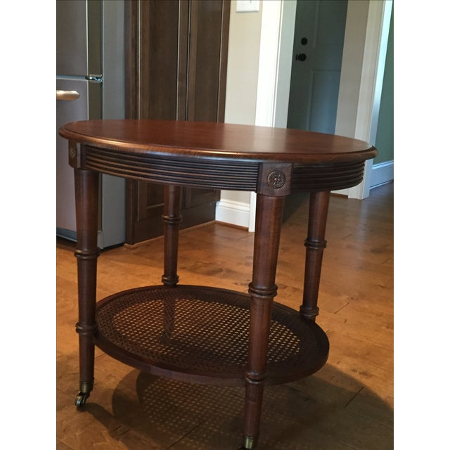 Oval Side Table by Ethan Allen - Image 4 of 4