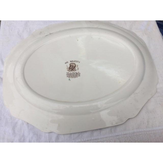 Ceramic English Transferware Turkey Platter For Sale - Image 7 of 11