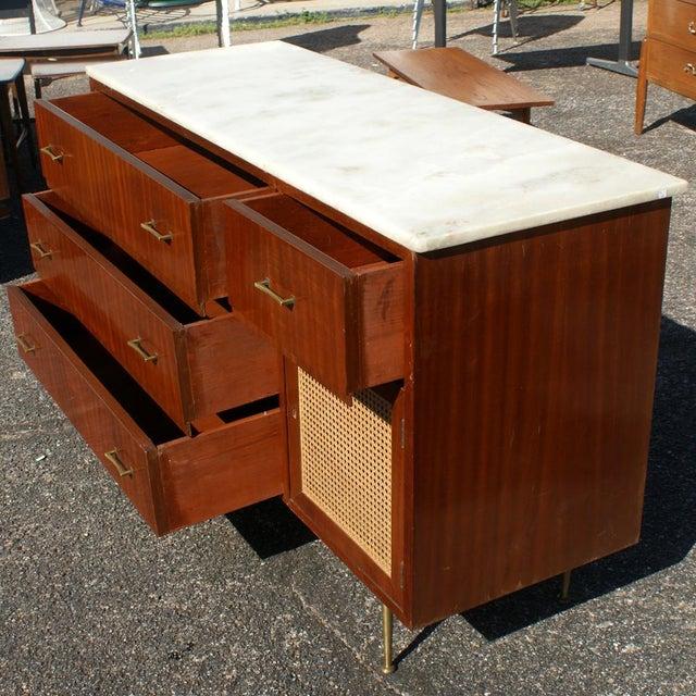 Vintage Cane Marble Dresser For Sale - Image 4 of 7