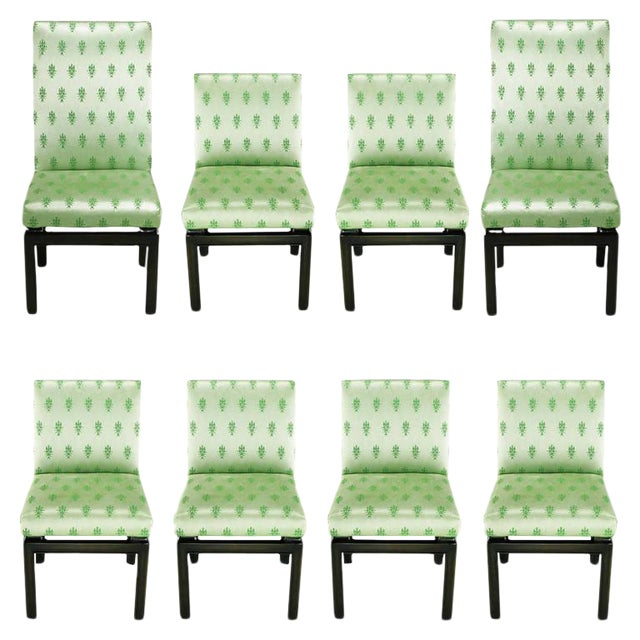 Eight Baker Far East Collection Floating Dining Chairs For Sale
