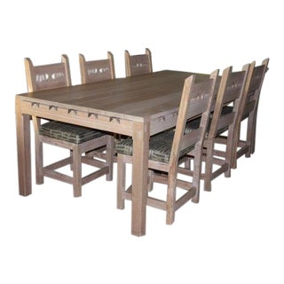 Vintage Authentic Taos Furniture Dining Set For Sale