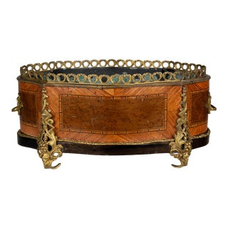 19th Century French Napoleon III Marquetry Jardinière For Sale
