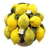 Image of 20th Century Italian Majolica Lemon Fruit Topiary For Sale