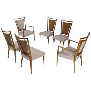 Mid-Century Modern Widdicomb Walnut Dining Chairs- Set of 6 For Sale
