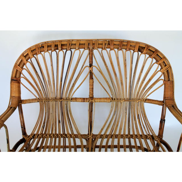 Mid 20th Century Franco Albini Style Loveseat or Settee For Sale - Image 5 of 9
