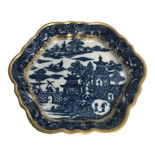 Antique 18th Century Caughley Teapot Stand Tray For Sale