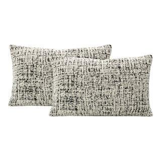 """12"""" X 18"""" Urban Boucle Caviar Lumbar Pillows - a Pair For Sale"""