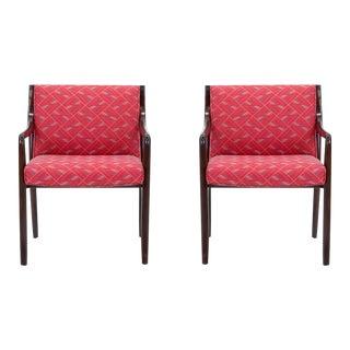 1950s Mid-Century Modern Edward Wormley for Dunbar Side Armchairs - a Pair For Sale
