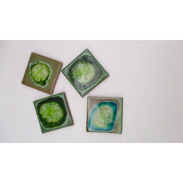Geode Crackle Glass Coasters - Set of 4 For Sale In Phoenix - Image 6 of 10