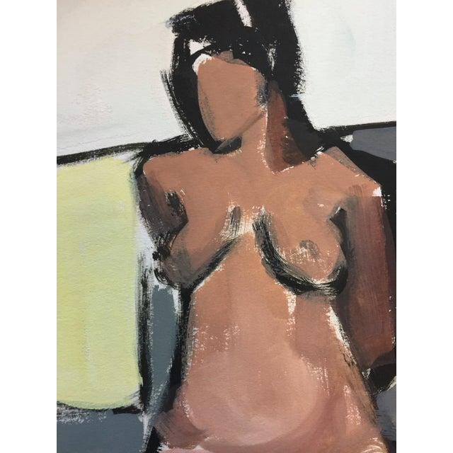 """Ruth Opper From the estate of Jerry Opper & Ruth Friedmann Opper Easel c.1950's Gouache on Paper 15"""" x 18"""", Unframed Very..."""