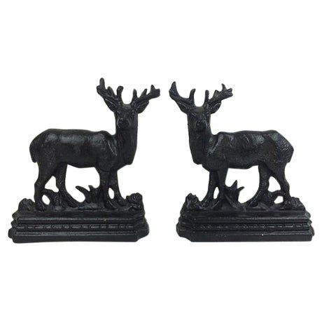 English Cast Iron Stags - A Pair - Image 1 of 3