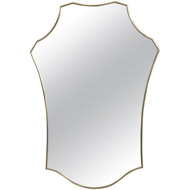 Mid-Century Modern Italian Brass Mirror For Sale - Image 9 of 9