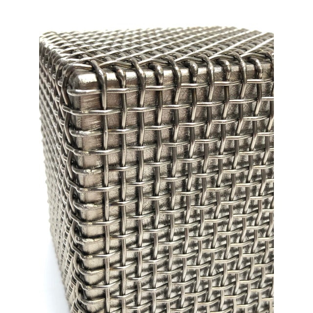 Modern Metal Cube Sculpture by Larry Lubow For Sale - Image 4 of 5