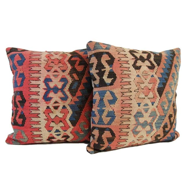 Turkish Vintage Pillow Covers - Pair - Image 6 of 6