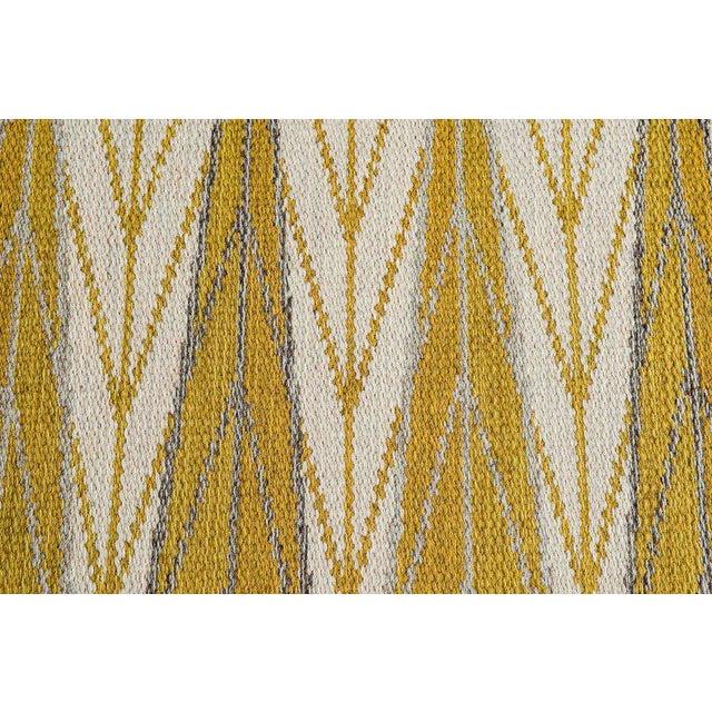 "Vintage Ingrid Dessau ""Sylarna"" Flat-Weave Swedish Carpet - Image 6 of 7"