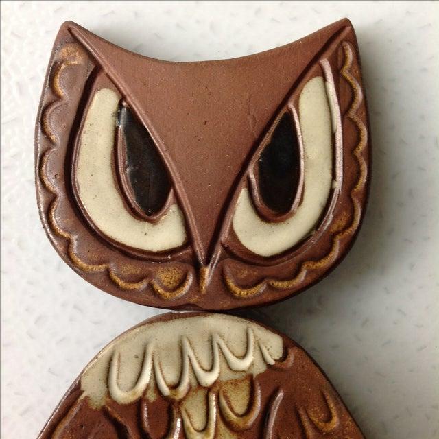 Mid-Century Modern Studio Pottery Owl Sculpture - Image 5 of 9