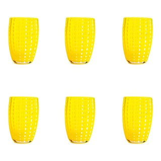 Perle Tumbler in Yellow - Set of 6 For Sale