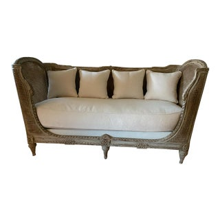 Mid 19th Century French Antique Caned Daybed For Sale