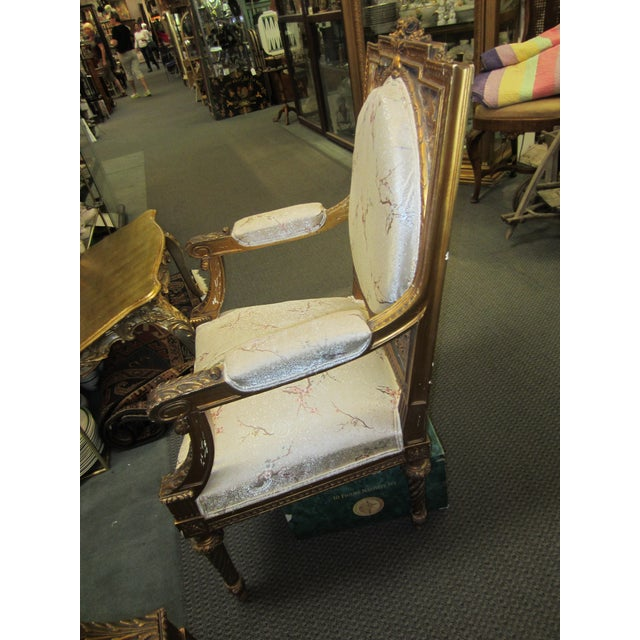 Antique French Giltwood Fauteuil Chairs - A Pair - Image 8 of 9