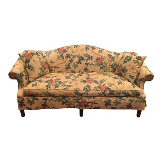 Custom Chinoiserie Camel Back Sofa For Sale