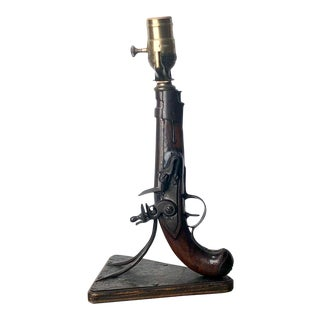 Antique Pistol Lamp, For Sale