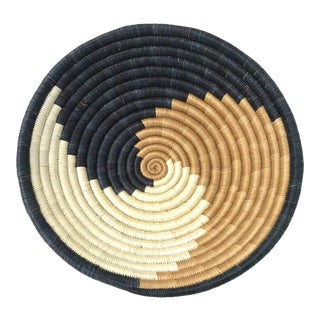 African Handwoven Catchall Bowl For Sale