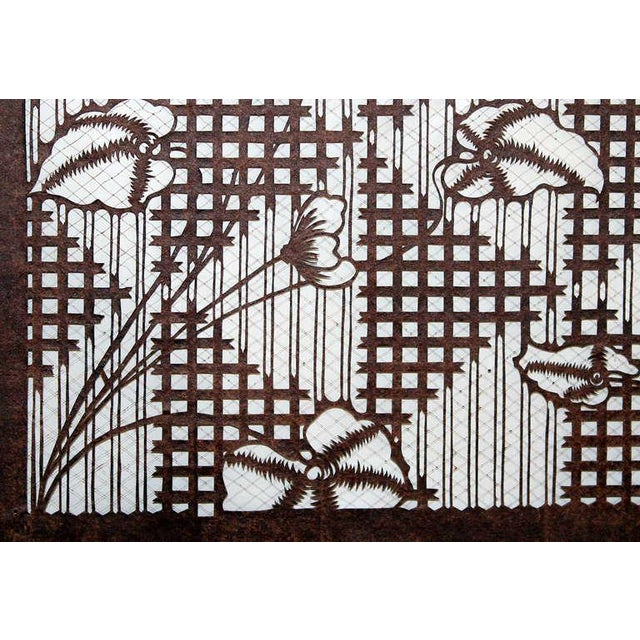 ac95fe477 Antique Japanese Kimono Katagami Fabric Stencil For Sale In New York -  Image 6 of 11
